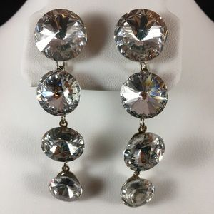 Sparkly costume earrings